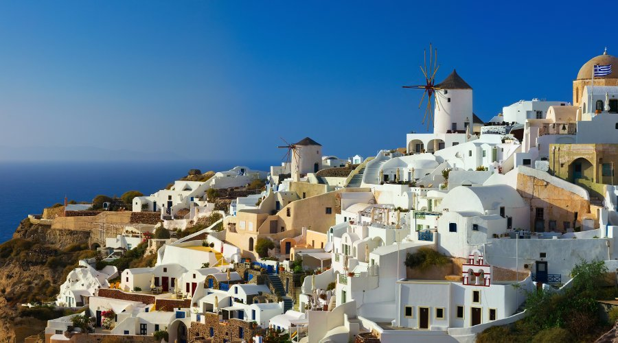 Akrotiri, Red Beach, Perivolos beach or local winery and Oia Village